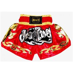Muay Thai Shorts K1 IMPACTO Red Golden