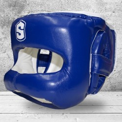 Boxing Head Guard with Front BAR SHARK BOXING IRON MAN