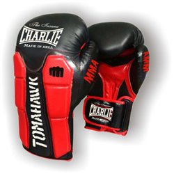 Boxing Gloves CHARLIE TOMAHAWK Leather Training Muaythai Velcro