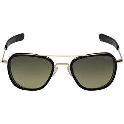 Randolph Fusion 55 Sunglasses Gold Pilot Green Crystals