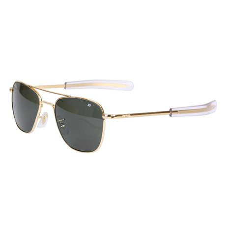 Randolph Sunglasses Pilot Aviator 23K Grey Lensses