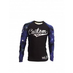 Rash guard licra manga larga custon fighter