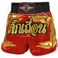 Pantalones Cortos Muay Thai Shorts K1 RUDE BOYS GOLDEN