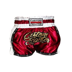 Pantalones Cortos MUAY THAI Shorts CUSTOM FIGHTER RETRO GRANATE