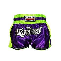 Pantalones Cortos MUAY THAI Shorts CUSTOM FIGHTER RETRO MORADO