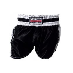 Pantalones Cortos MUAY THAI Shorts CUSTOM FIGHTER RETRO NEGRO