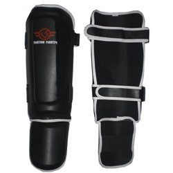 Espinilleras Tibiales BLACK Muay Thai K1 CUSTOM FIGHTER