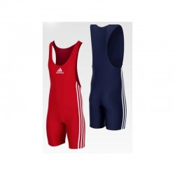 Wrestling Tights ADIDAS Competiton 2 Units Red and Blue